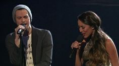"""Alex and Sierra sing a duet duel of """"Falling Slowly"""" with Carlito Olivero and the results are amazing. THE X FACTOR on FOX - VIDEOS Alex And Sierra, Fox Video, Falling Slowly, Music Is My Escape, Factors, Ears, Singing, Usa, Couples"""