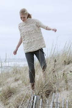 Georgica Horizontal Cable Pullover in Tara Tweed | Tahki Stacy Charles