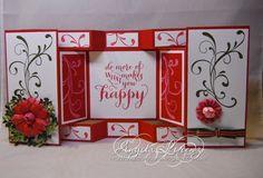 handmade card ... fancy fold shutter card ...