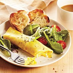 Classic French Omelet - Healthy Breakfast Recipes - Cooking Light