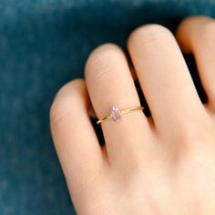 Amethyst Sparkler Ring