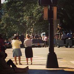 """Time warp. The movie LBJ is being filmed today in downtown Dallas. #film #LBJ #Dallas #jfk"""