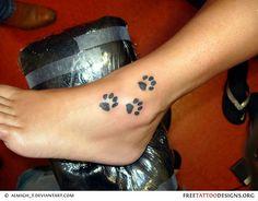 Trio Pawprint tattoo