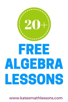 Looking for Algebra 1 resources? Check out this FREE secondary math website with over 20 Algebra 1 lessons. The lessons have lots of examples, videos, and practice quizzes with instant feedback.