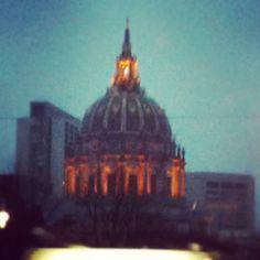 SF at dusk
