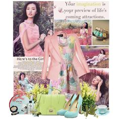 romantic pastel, created by limass on Polyvore