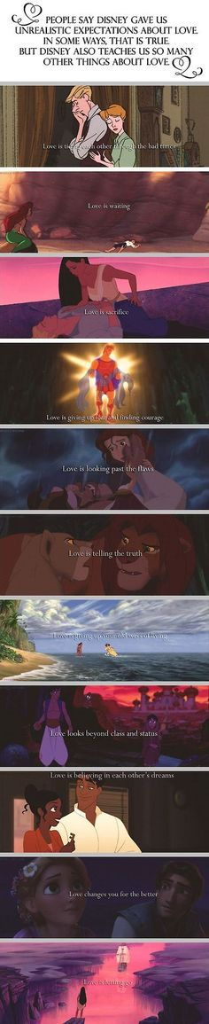 I can't believe people think Disney sets up impossible expectations of love. It's not Disney, it's people who can't see the beauty in the tales Disney animated. These tales are far older than Disney. Disney Pixar, Disney Magic, Disney Amor, Deco Disney, Disney And Dreamworks, Disney Love, Run Disney, Disney Stuff, Disney Quotes About Love