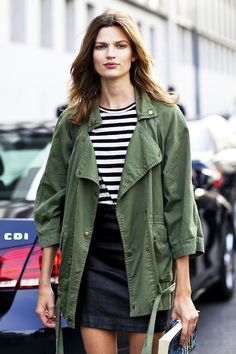 Cute top and skirt with a jacket