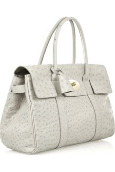 Mulberry Baywaster Ostrich Leather Bag