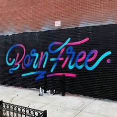 Love the colours of this street art lettering by @itsaliving