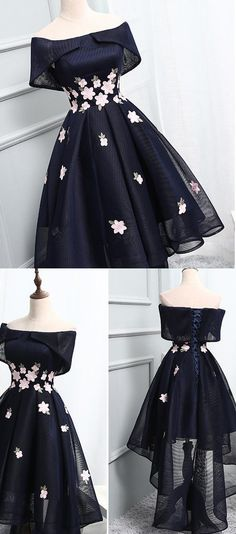 Princess Homecoming Dresses, Black Party Dresses, Short Prom Dresses With Applique Sleeveless Asymmetrical