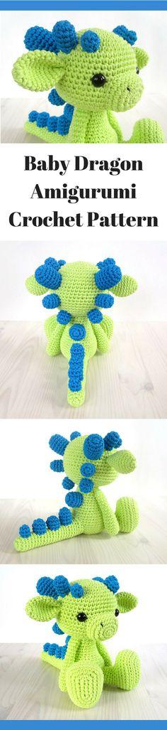 Amigurumi Baby Dragon Crochet Pattern Printable #ad #amigurumi #amigurumidoll #amigurumipattern #amigurumitoy #amigurumiaddict #crochet #crocheting #crochetpattern #pattern #patternsforcrochet #printable #instantdownload #dragon