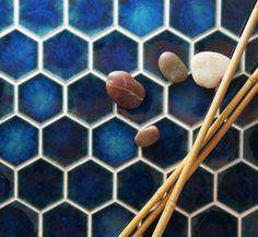 Setto  2- Godai Concave Hex in Gloss Blue