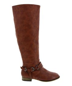 Loving this Cognac Ankle Buckle Carison Boot on #zulily! #zulilyfinds