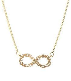 colar amor eterno (e infinito !) em metal dourado  www.sinhazinha.com