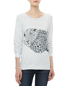 Well hey there...  Annora Cheetah-Graphic Sweater by Soft Joie at Neiman Marcus.