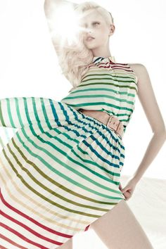 STRIPES! (Thairine Garcia - photo: Zee Nunes for Cholet S/S '13 campaign)