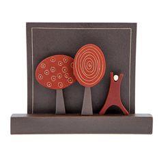 """Modern Ceramic 3D Tile - Wall Art Decor Sculpture - Handmade """"Nature"""" - Red, Small Ceramic Wall Art, 3d Wall Art, Wall Art Decor, Framed Artwork, 3d Tiles, Fabric Gift Bags, Modern Ceramics, Wall Sculptures, Pottery"""