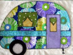 This is a APPLIQUE PATTERN with templates for a vintage camper trailer. It is an Instant digital pdf download. This retro travel trailer applique is a raw edge design, perfect for a confident beginner or experienced quilter with basic knowledge of applique. This applique retro camper is suitable for quilts, pot holders, candle mats, mug rugs or whatever you may want to make with it. The digital file has 3 pages and includes a list of materials needed, instructions for completing the…