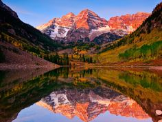 Maroon Bells in Autumn, White River National Forest, Colorado