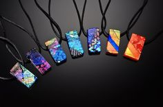The Funky Monkey: NGlassworks: Beautiful Dichroic Glass Earrings Giveaway