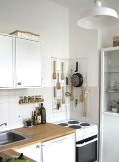 Ideen Für Kleine Räume/kleine Küche: Tricks Für Die Mini Küche Zum Verstauen