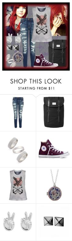 """""""I Really Want To Dye My Hair Like This"""" by shadow13goddess101 ❤ liked on Polyvore featuring Current/Elliott, Sandqvist, Topshop, Converse, Disney, Rock 'N Rose and Waterford"""