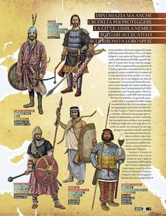 Enemies of the Eastern Roman empire VI-XI centuries Medieval World, Medieval Armor, Military Art, Military History, Military Costumes, Celtic Warriors, Armadura Medieval, Ancient Persian, Early Middle Ages