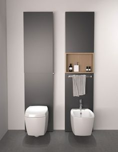 "toallero sobre el bidet Agape Bathrooms _ // _ You can buy Agape goods from the web by the ""AgapeStore_ www. Bathroom Spa, Modern Bathroom, City Bathrooms, Best Bathroom Colors, Bidet, Bathroom Interior Design, Bathroom Furniture, Bathroom Accessories, Layout Design"