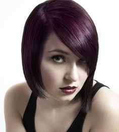 A medium black straight bob Modern hairstyle by Aesthetics