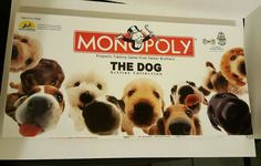 THE DOG Monopoly Game Special Edition Artlist Collection Pewter Tokens Puppy EUC #USAopoly