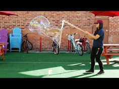 Impress all the neighbors with these giant bubbles that kids and adults alike will get a kick out of. Full instructions on Nifty.