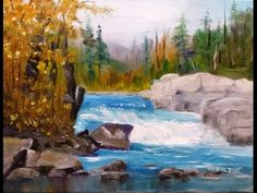 "Paint Along with Larry Hamilton - November 19, 2014 - Oil Painting ""Peterborough Falls"" - YouTube"