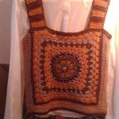 Top granny square it dressing mode italienne by DMP.Artcréations France