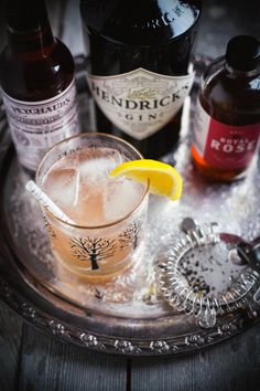 cardamom rose gin & tonic - cardamon, gin, rose syrup, lemon, grapefruit, bitters, tonic