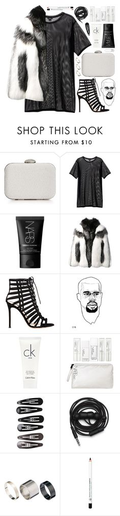 """Untitled #1224"" by noviii ❤ liked on Polyvore featuring La Regale, Monki, NARS Cosmetics, Alexander McQueen, Gianvito Rossi, Calvin Klein, Clips, Urbanears, Just Acces and Tom Binns"