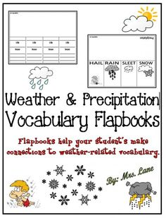 Weather & Precipitation Vocabulary Flapbooks product from Mrs-Lane on TeachersNotebook.com