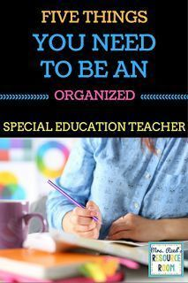 Reed's Resource Room: 5 Things You Need to be an Organized Special Educ - Education Job - Ideas of Education Job - Mrs. Reed's Resource Room: 5 Things You Need to be an Organized Special Education Teacher organisieren Special Education Organization, Teaching Special Education, Education Jobs, Teacher Organization, Education Quotes For Teachers, Special Education Teacher, Organized Teacher, Education College, Paperwork Organization