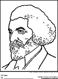 frederick douglas coloring pages black history month