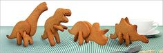 3D Dinosaur Cookie Cutters- Little Roger would love these!