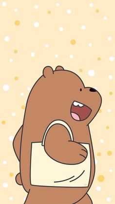 We Bare Bears Uploaded Naty On We Heart It with regard to We Bare Bears Grizz Wallpaper - All Cartoon Wallpapers Cute Disney Wallpaper, Cute Cartoon Wallpapers, Kawaii Wallpaper, Ice Bear We Bare Bears, We Bear, Tsum Tsum Wallpaper, We Bare Bears Wallpapers, Bear Wallpaper, Bear Cartoon