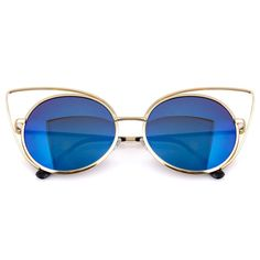 "Women's Metal Frame Cateye Sunglasses ""Katy"""
