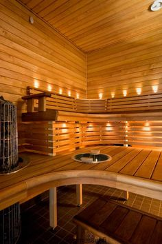 Omatalo Lehtorinne - sauna | Asuntomessut Bathroom Toilets, Bathrooms, Finnish Sauna, Wellness Resort, Sauna Room, Best Cleaning Products, Saunas, Western Red Cedar, Home Spa