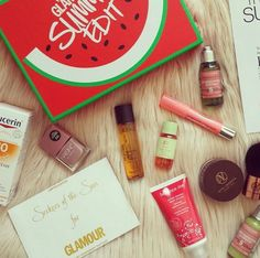 Just look at all of that beauty goodness in our Glamour Summer Edit!