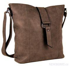 Dámská crossbody kabelka z broušené kůže 1238 hnědá   NewBerry - kabelky a19ada0ea29