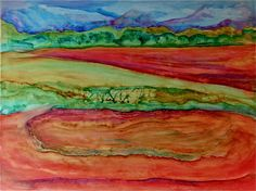 "Watercolor on Paper  22"" x 30""  (2011)."