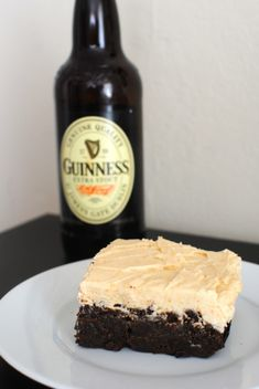 Guinness Chocolate Brownies with Peanut Butter Buttercream