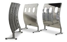 These 737 panels on casters are available in 5' sections with low profile casters. They are light weight and perfectly balanced.