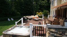Composite Deck Builder | Trex Deck Pictures | Curved Deck Pictures | PVC Decking | Custom Lattice | Privacy Walls