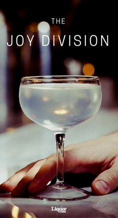 Joy Division Cocktail. With gin, cointreau and a touch of absinthe, this pleasure won't remain unknown for long.